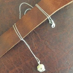 Silver necklace with knot pendant